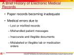 a brief history of electronic medical records