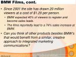 bmw films cont