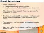 e mail advertising