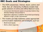 imc goals and strategies