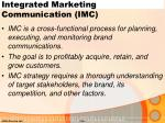 integrated marketing communication imc