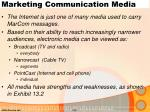 marketing communication media