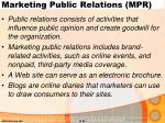 marketing public relations mpr