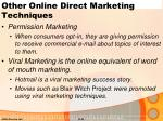 other online direct marketing techniques