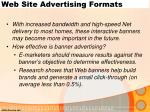 web site advertising formats