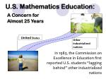 u s mathematics education