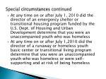 special circumstances continued