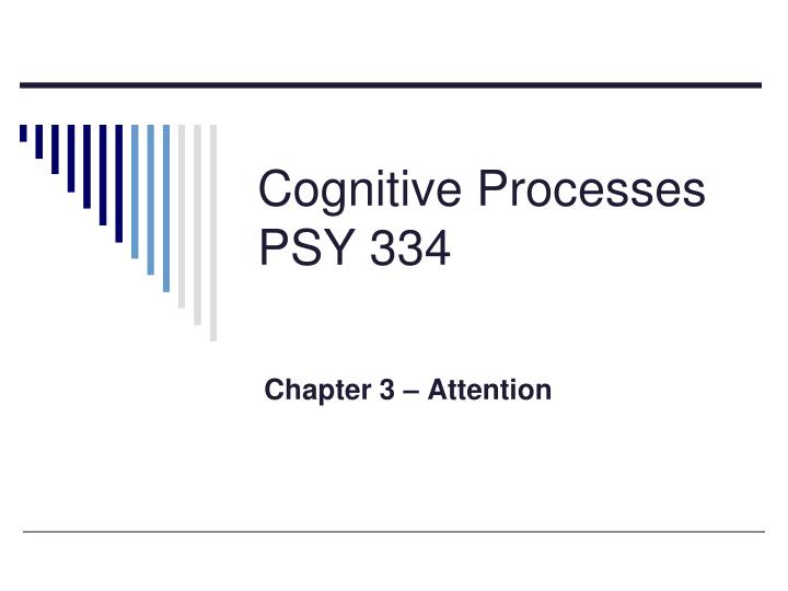 cognitive processes psy 334 n.