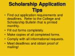 scholarship application tips