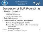 description of emr protocol 3