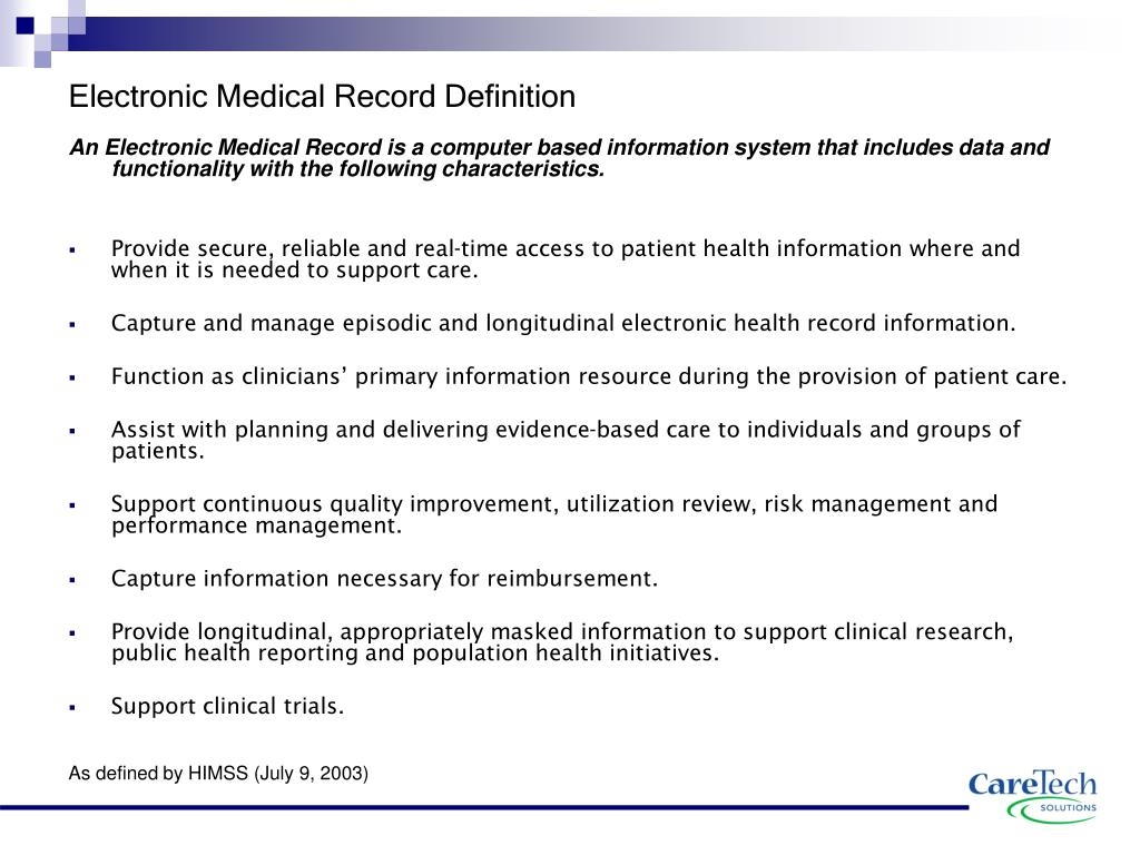 Ppt Electronic Medical Record Features Powerpoint