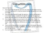 instructions cont