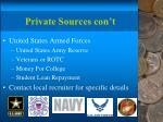 private sources con t