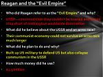 reagan and the evil empire