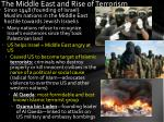 the middle east and rise of terrorism