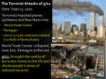 the terrorist attacks of 9 11