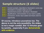 sample structure 6 slides