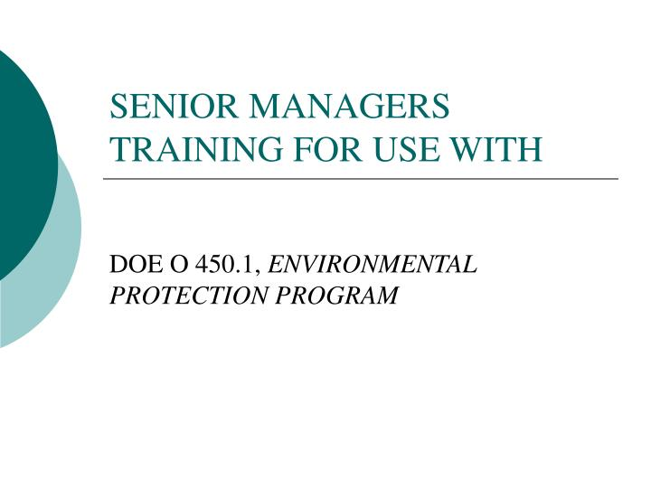 senior managers training for use with n.