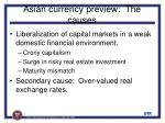 asian currency preview the causes