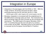integration in europe