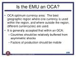 is the emu an oca