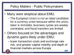 policy matters public policymakers