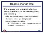 real exchange rate1