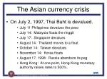 the asian currency crisis