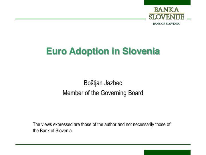 euro adoption in slovenia n.