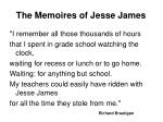 the memoires of jesse james