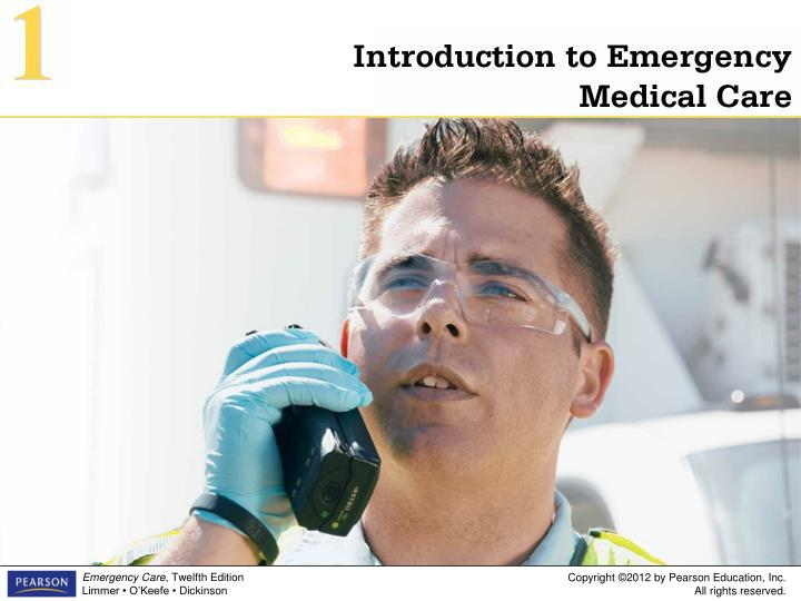 introduction to emergency medical care 1 n.