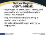 national registry of emts nremt