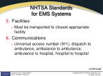 nhtsa standards for ems systems2