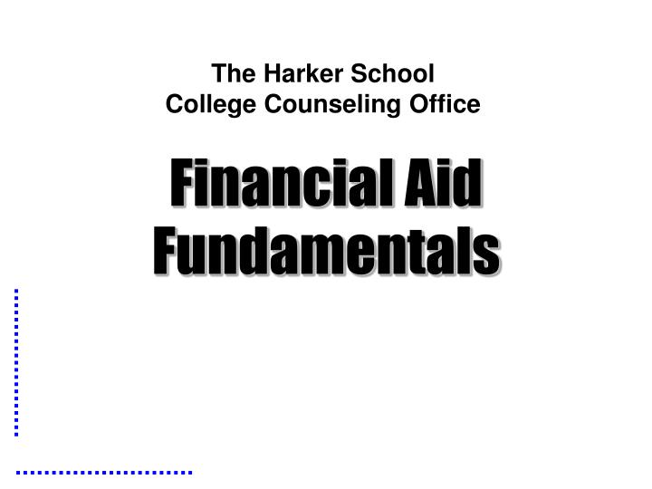 the harker school college counseling office n.