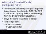 what is the expected family contribution efc