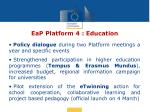 eap platform 4 education