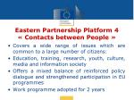 eastern partnership platform 4 contacts between people