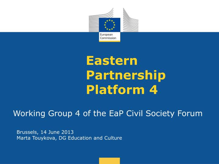 eastern partnership platform 4 n.