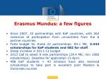 erasmus mundus a few figures