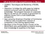 cr sustainable competitiveness in mexico