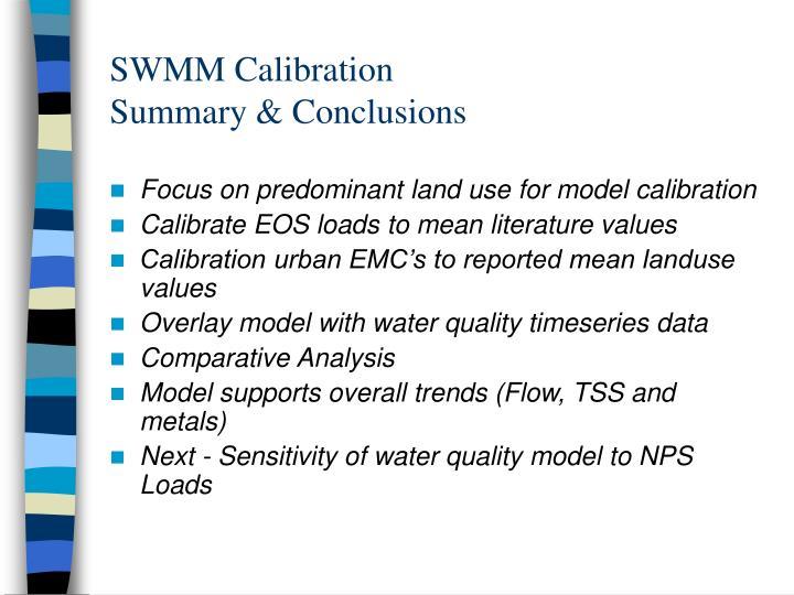 SWMM Calibration