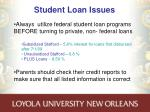 student loan issues