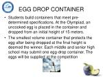 egg drop container