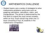 mathematics challenge