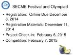 secme festival and olympiad