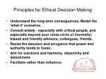 principles for ethical decision making1