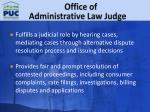 office of administrative law judge