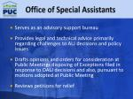 office of special assistants