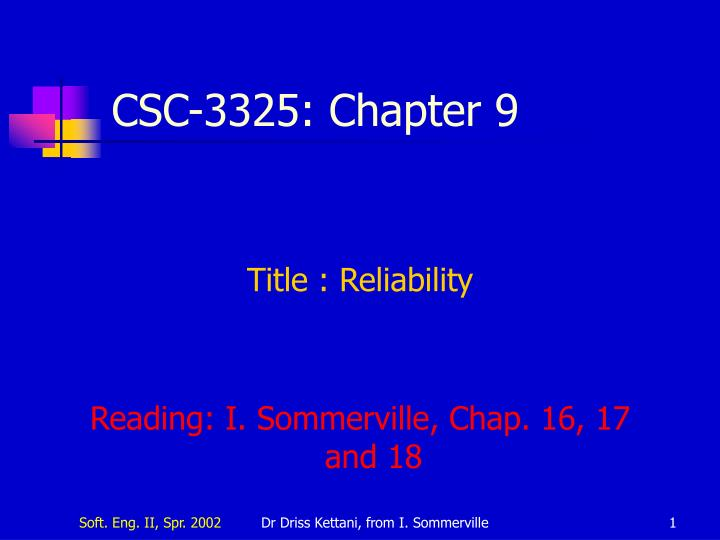 csc 3325 chapter 9 n.
