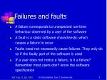 failures and faults